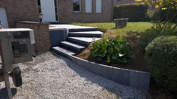 entreprise danhier les sp cialistes des terrasses acc s et entr e de garage en pierres bleues. Black Bedroom Furniture Sets. Home Design Ideas
